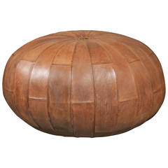 Leather Pouf or Ottoman