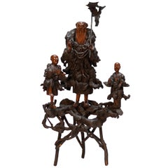 Chinese Burlwood Sculpture