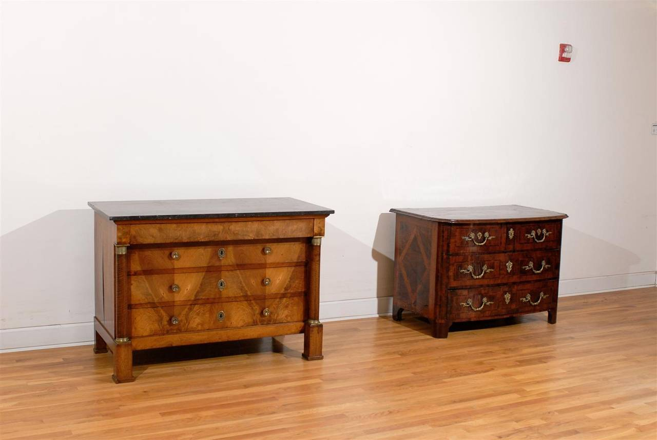 French Early 19th Century Empire Period Four-Drawer Commode with Marble Top In Good Condition For Sale In Atlanta, GA