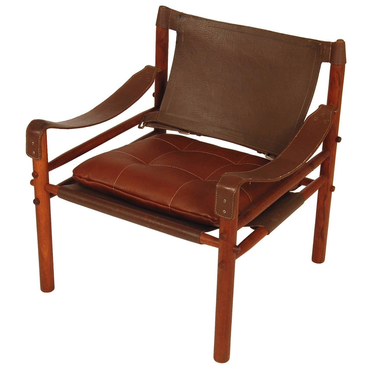 """Arne Norell """"Sirocco"""" Safari Chair at 1stdibs"""