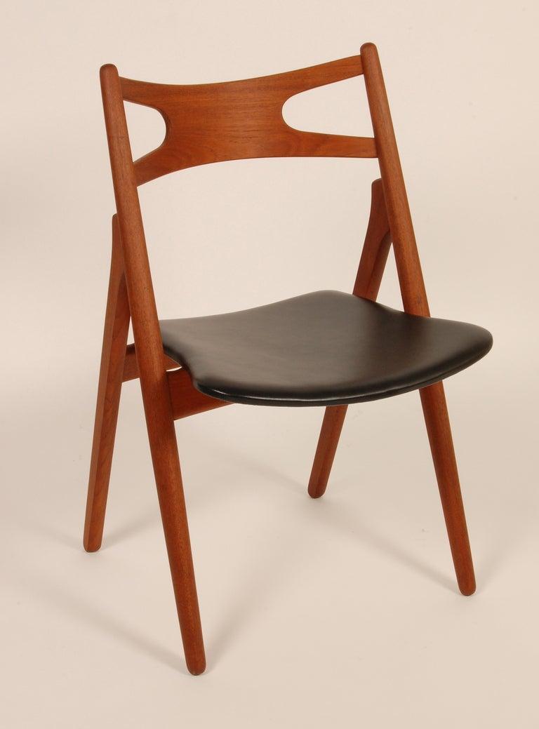 Hans Wegner Sawback Chairs Ch 29 At 1stdibs