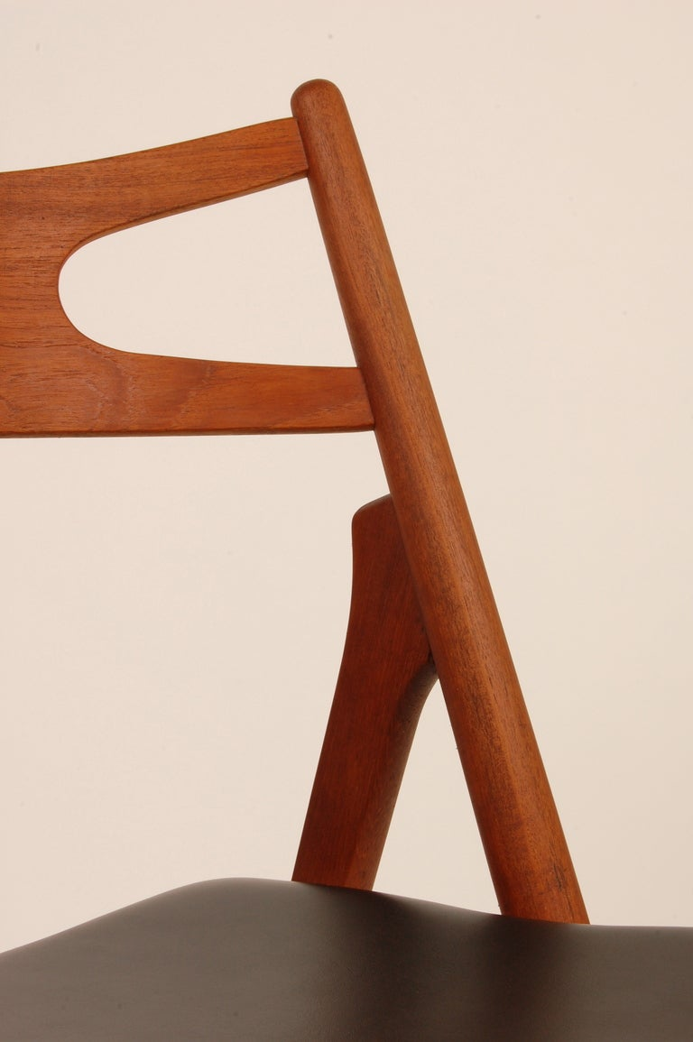 This four wishbone chairs by hans wegner is no longer available - Hans Wegner Sawback Chairs Ch 29 At 1stdibs