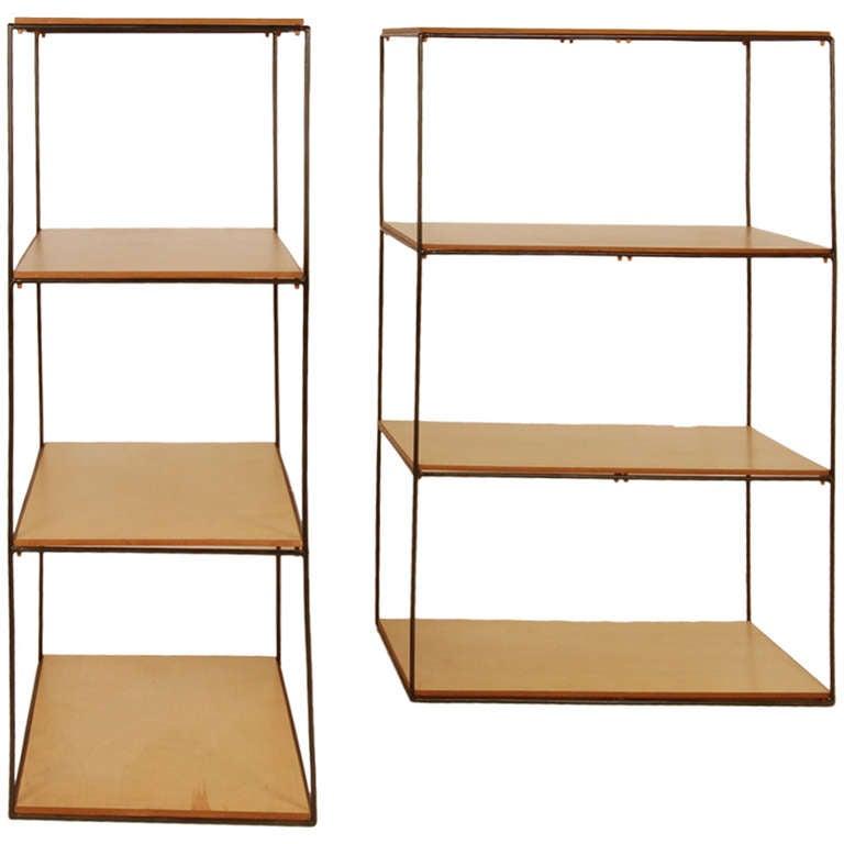 California modern iron shelves at 1stdibs for California case moderne