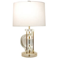 Constructivist Lucite Table Lamp