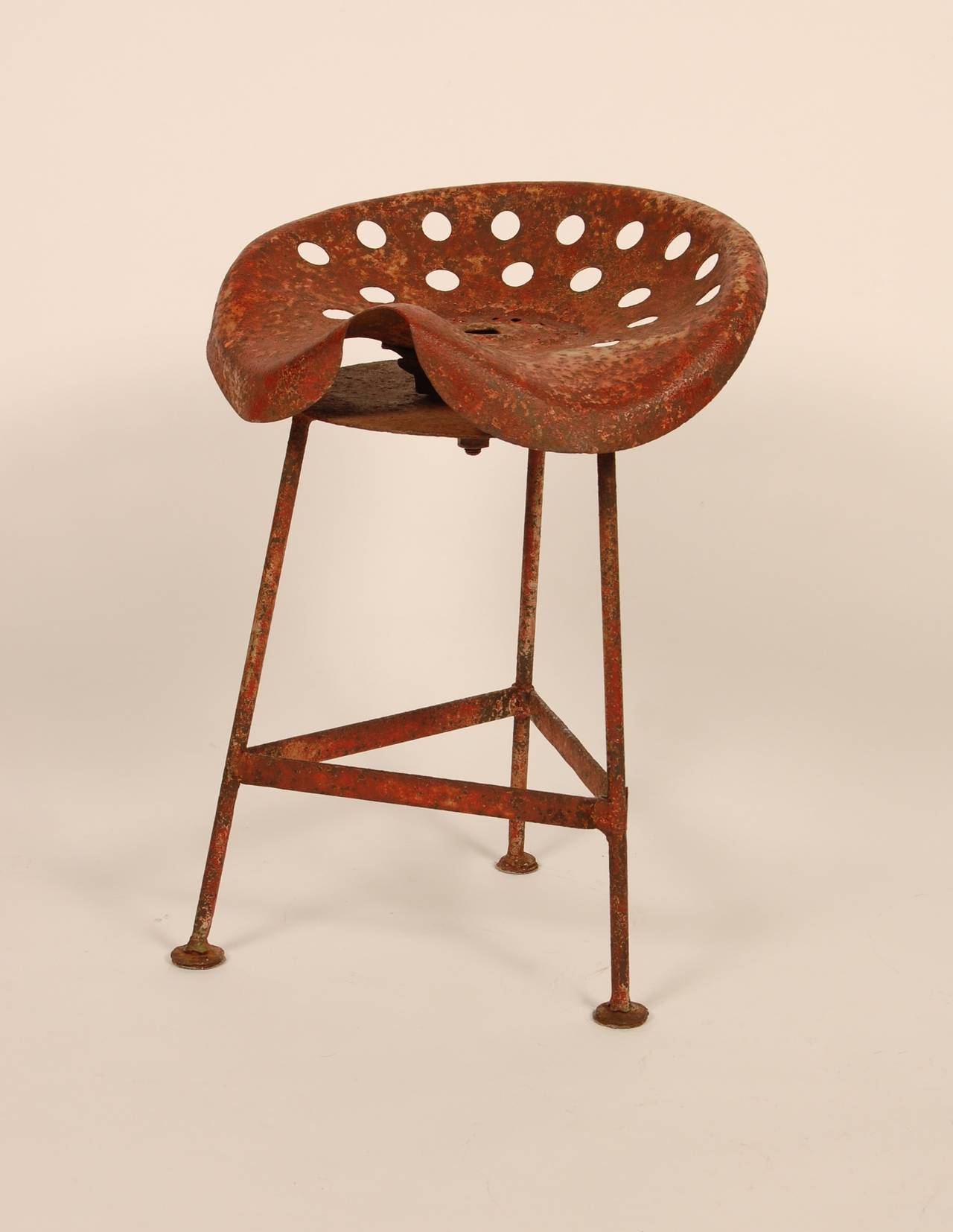 Tractor Seat Stools Or Chairs : Rustic tractor seat stool at stdibs