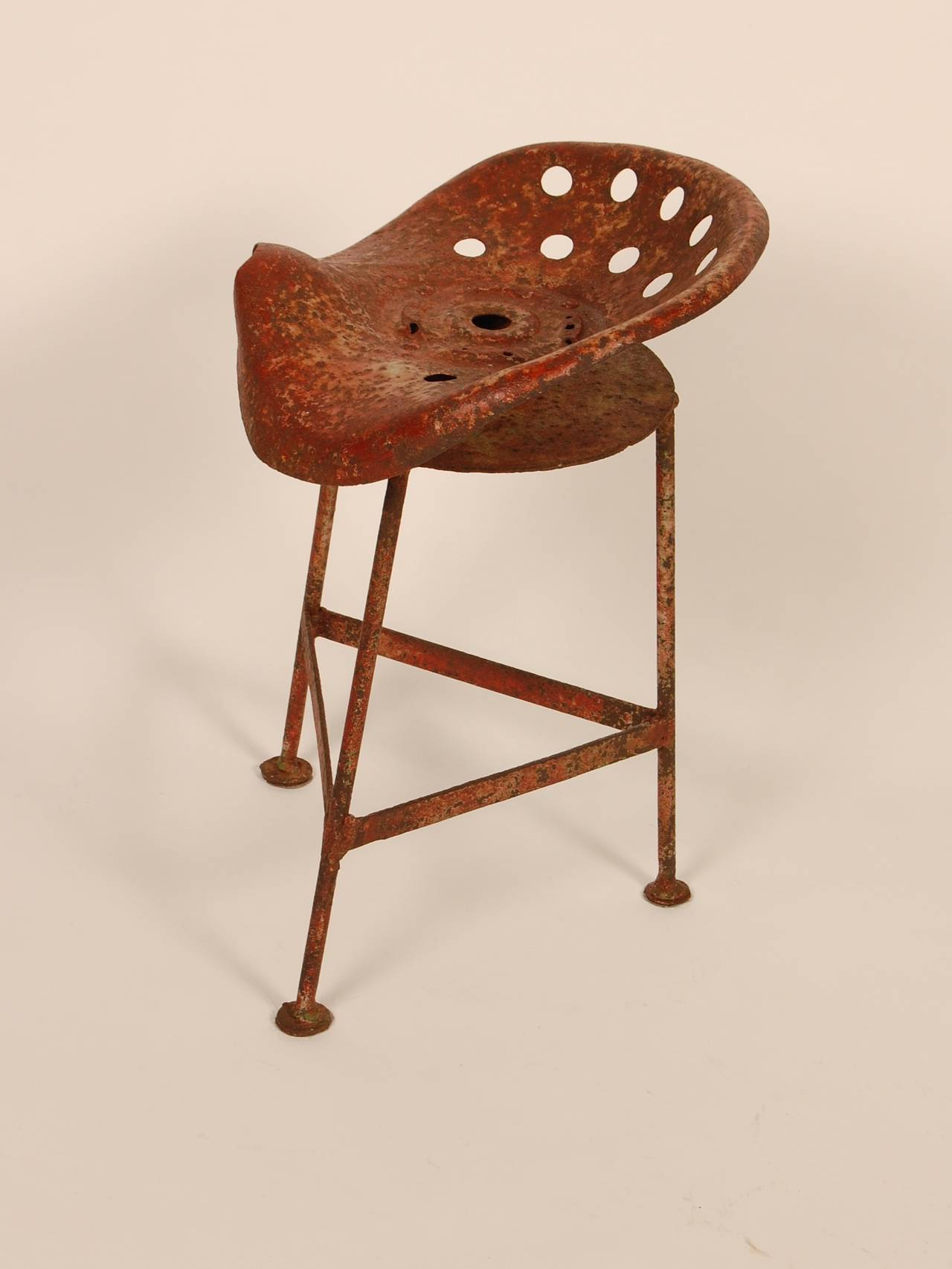 Rustic Tractor Seat Stool At 1stdibs