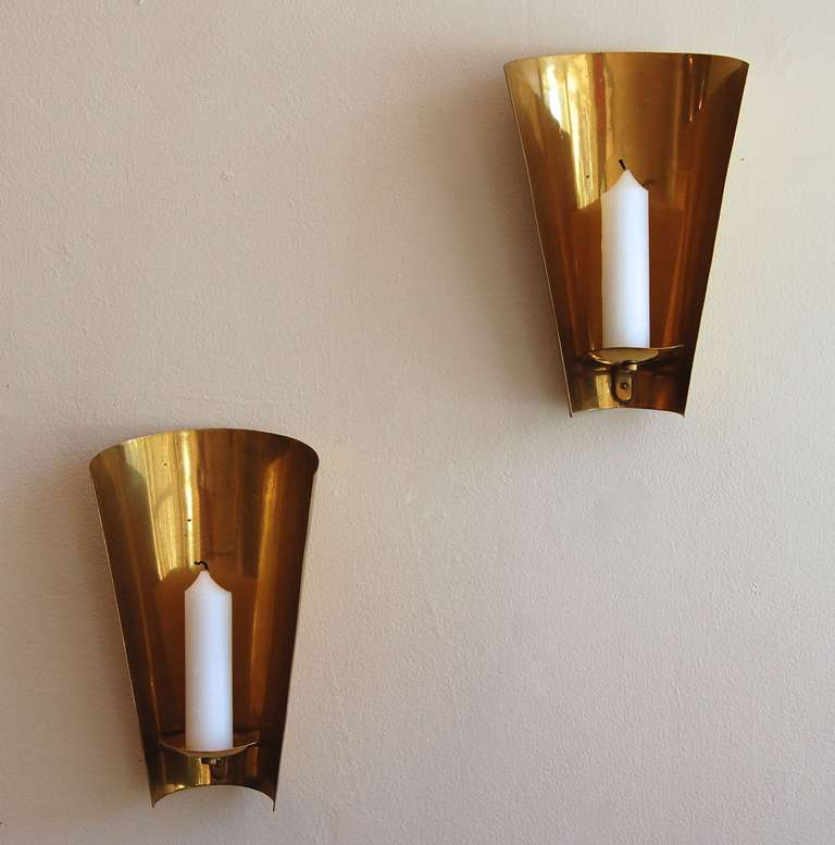 Brass Candle Wall Sconces at 1stdibs
