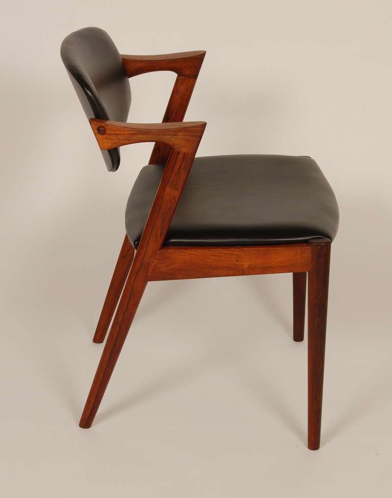 Kai kristiansen rosewood z dining chairs at 1stdibs - Kai kristiansen chair ...