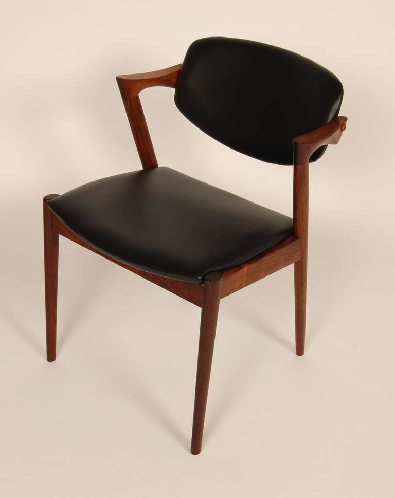 Kai Kristiansen Rosewood Z Dining Chairs At 1stdibs