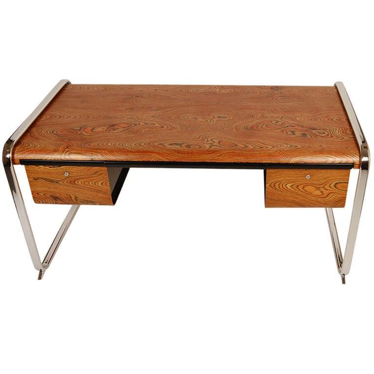 herman miller zebrawood desk at 1stdibs