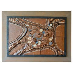 "Deloris ""Dee"" Giltz Ceramic Wall Art Assemblage"