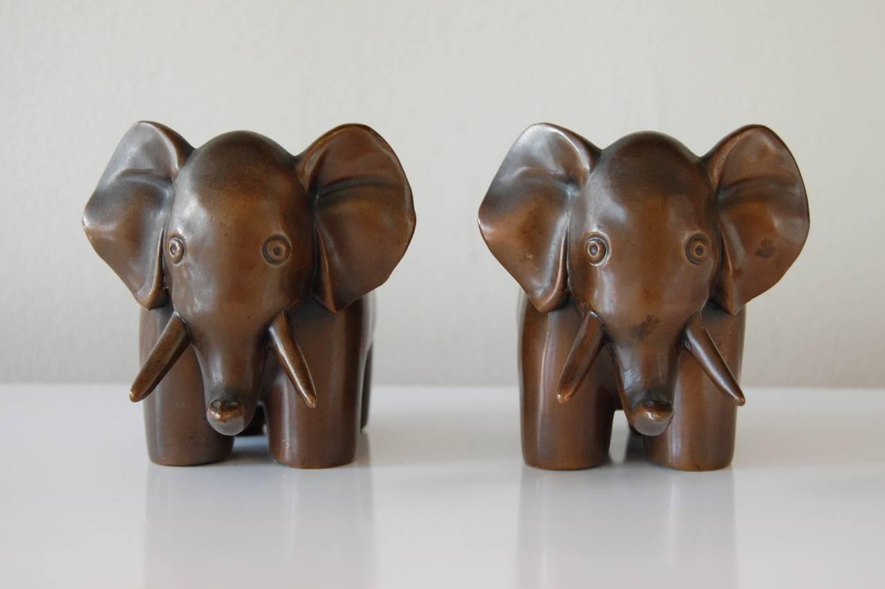 art deco bronze elephant sculptures at 1stdibs. Black Bedroom Furniture Sets. Home Design Ideas