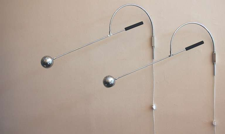 Small Sonneman Orbiter Wall Lamp At 1stdibs