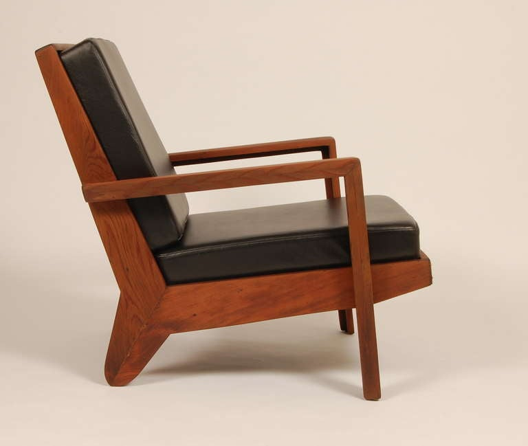 Modern Rustic Redwood Lounge Chair at 1stdibs