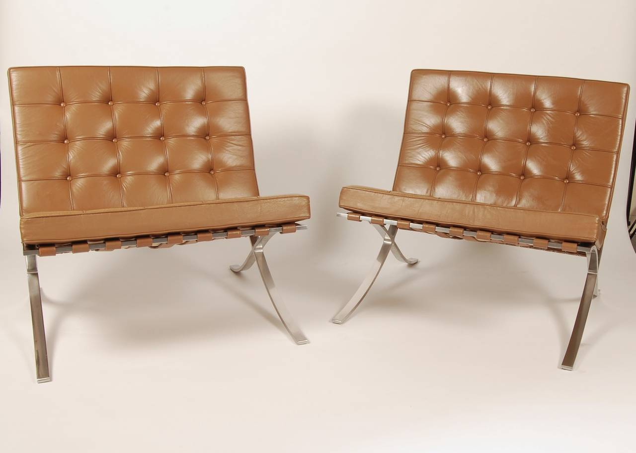Pair of Barcelona Lounge Chairs Circa 1960s at 1stdibs