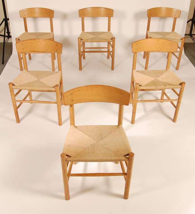 Borge mogensen shaker j 39 dining chairs at 1stdibs - Shaker dining room furniture ...