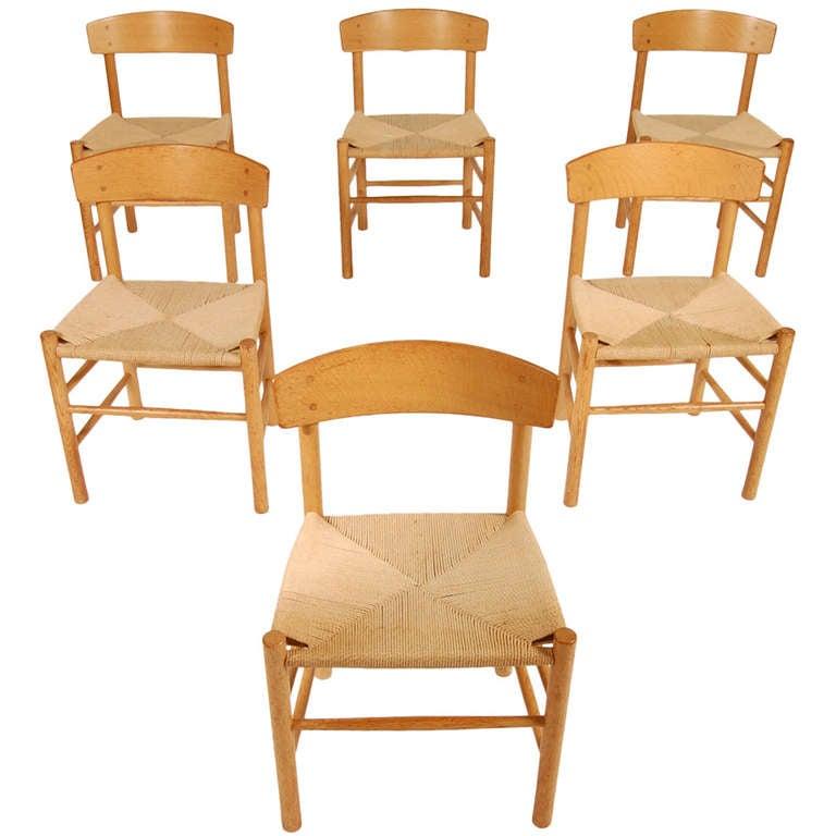 Borge Mogensen Shaker J-39 Dining Chairs at 1stdibs