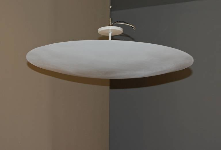 Esther and Gross Wood Large Saucer Lamp at 1stdibs