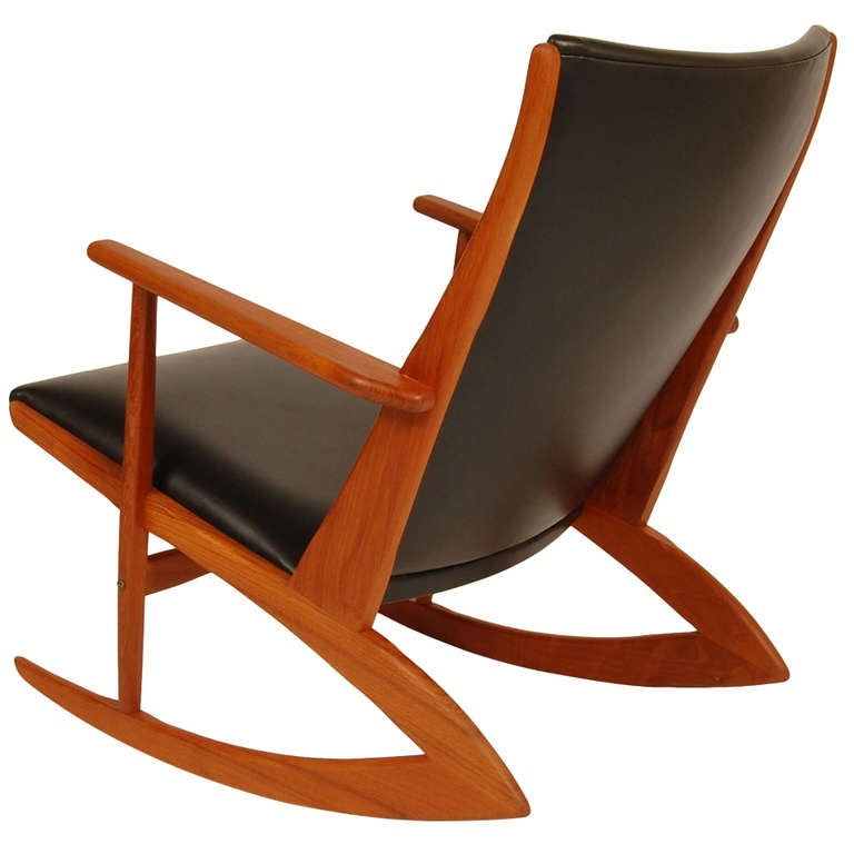 Soren Georg Jensen Rocking Chair 1917 1982 At 1stdibs