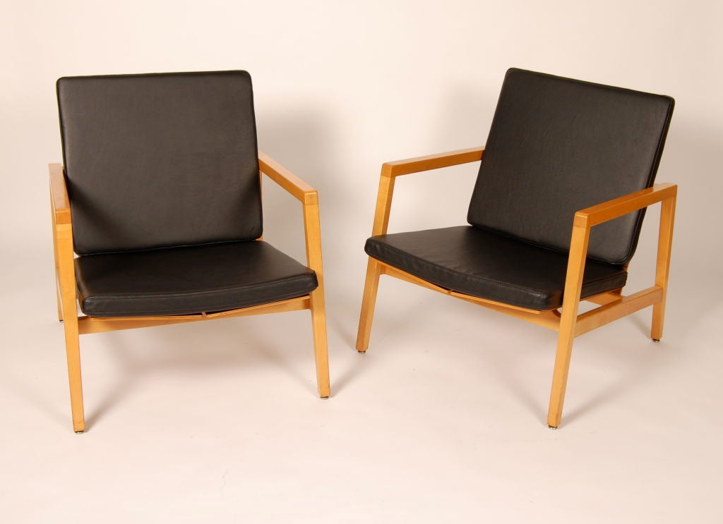 Rare Lewis Butler Lounge Chairs Knoll At 1stdibs