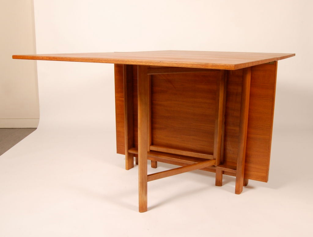 Swedish folding gateleg dining table at 1stdibs for Gateleg dining table
