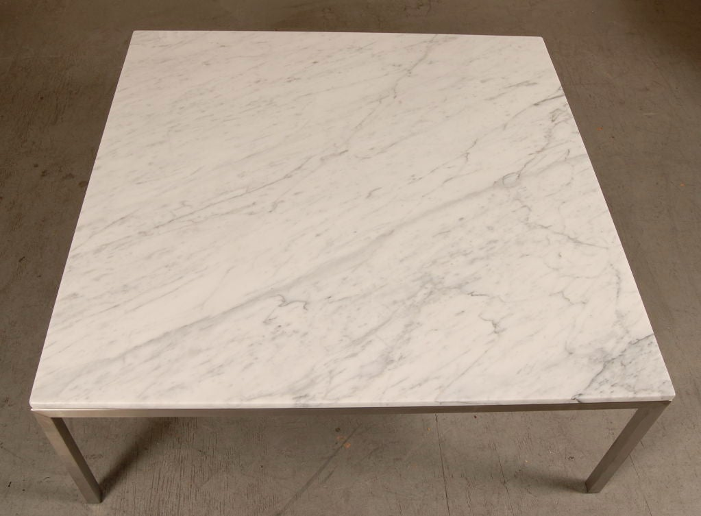 Large Square Marble Coffee Table At 1stdibs