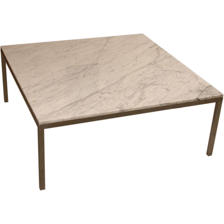 Large square marble coffee table at 1stdibs Large square coffee table
