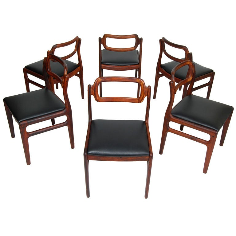 Danish Rosewood Dining Chairs By Uldum At 1stdibs