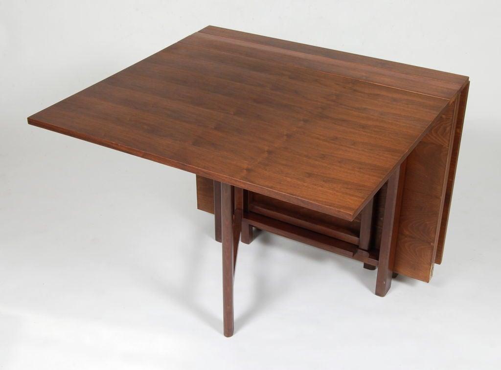 Folding gateleg dining table at 1stdibs - Gateleg table with folding chairs ...