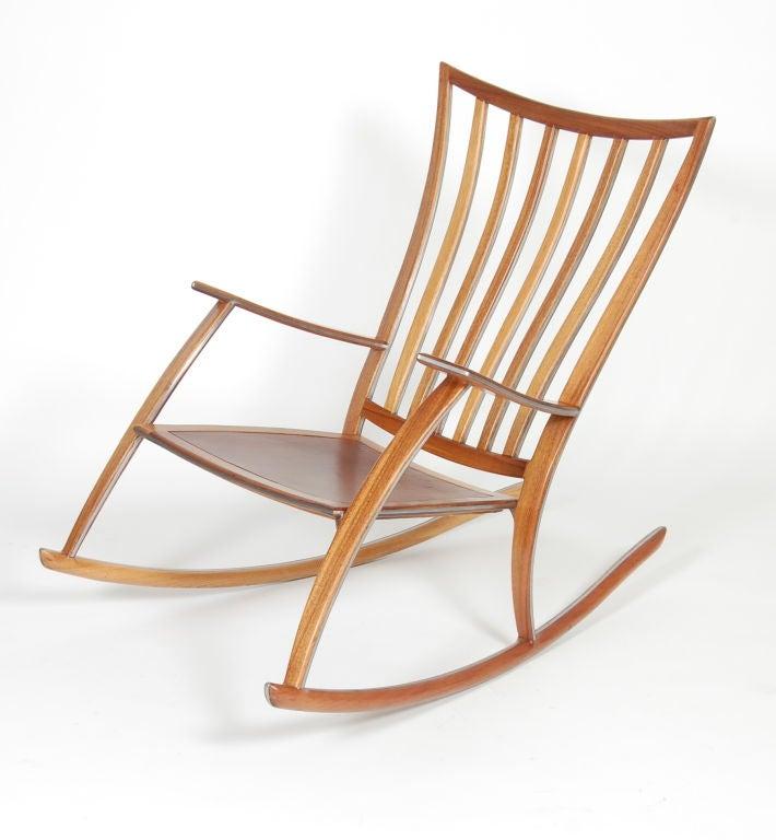 Koa Studio Rocking Chair at 1stdibs
