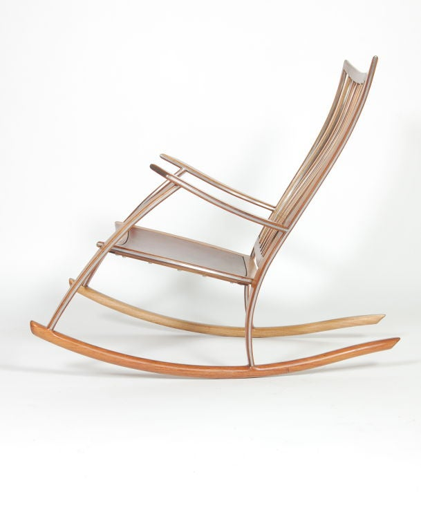Koa Studio Rocking Chair at 1stdibs