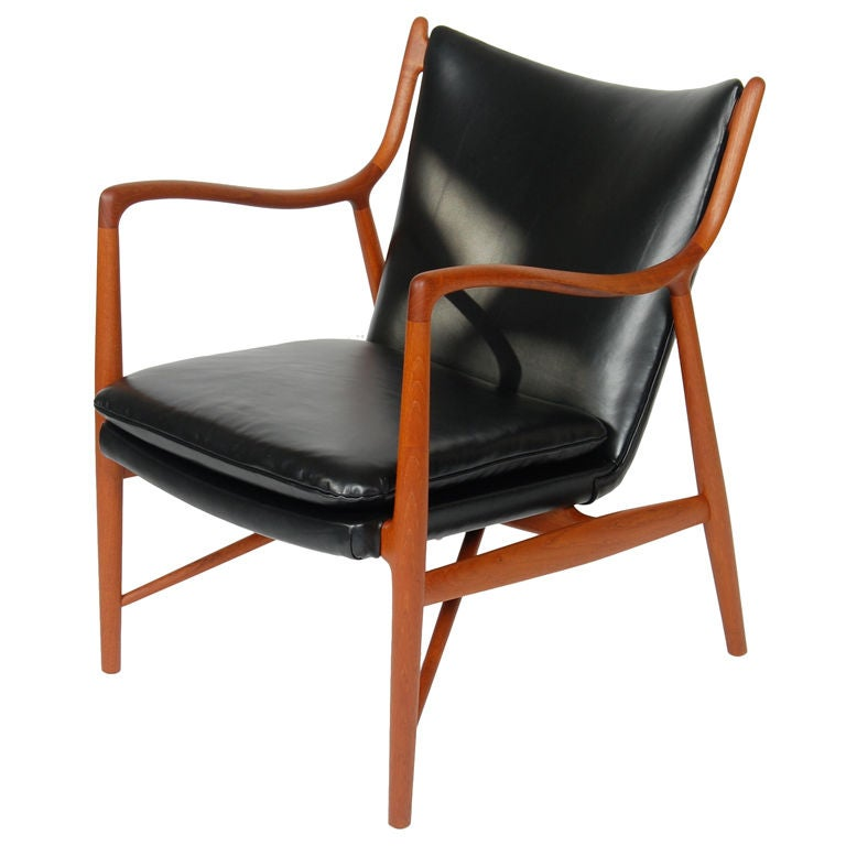 Finn Juhl Nv 45 Arm Chair At 1stdibs