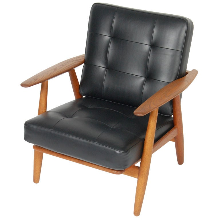 Hans Wegner Cigar Lounge Chair at 1stdibs