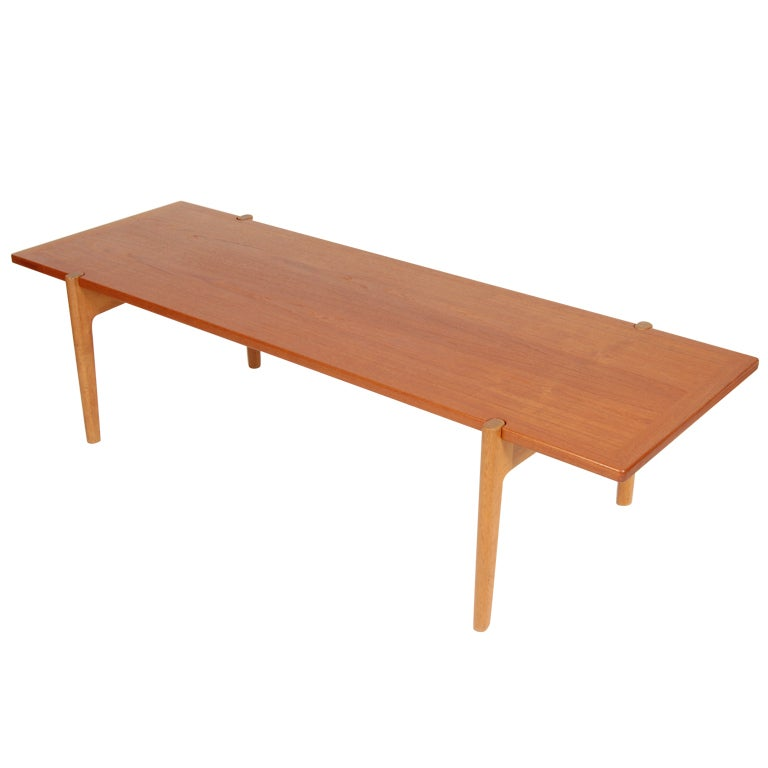 Reversible Hans Wegner Bench Coffee Table At 1stdibs