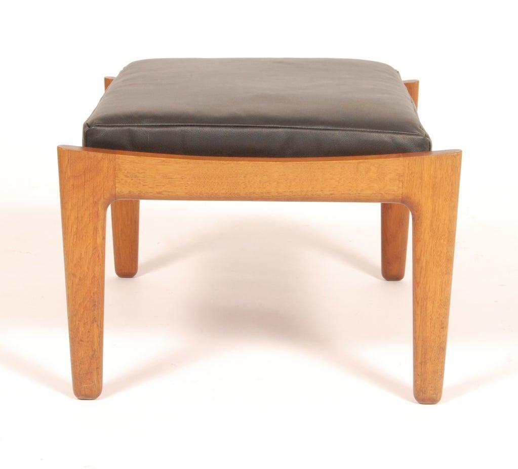 hans wegner stool ottoman at 1stdibs. Black Bedroom Furniture Sets. Home Design Ideas