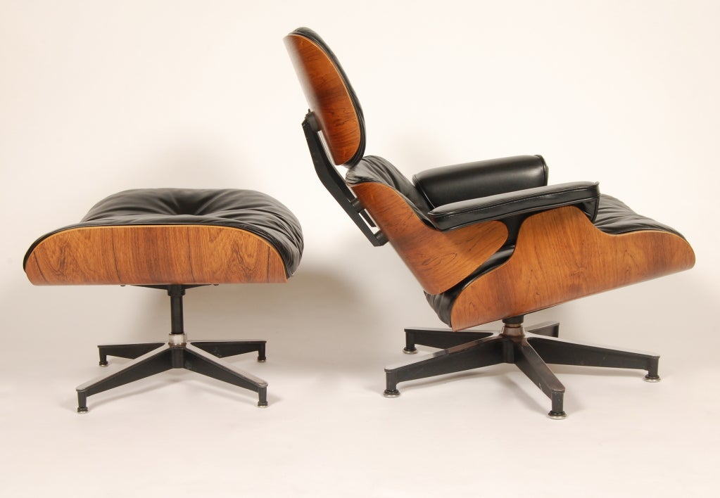 1960s Rosewood  Eames Lounge and Ottoman image 3