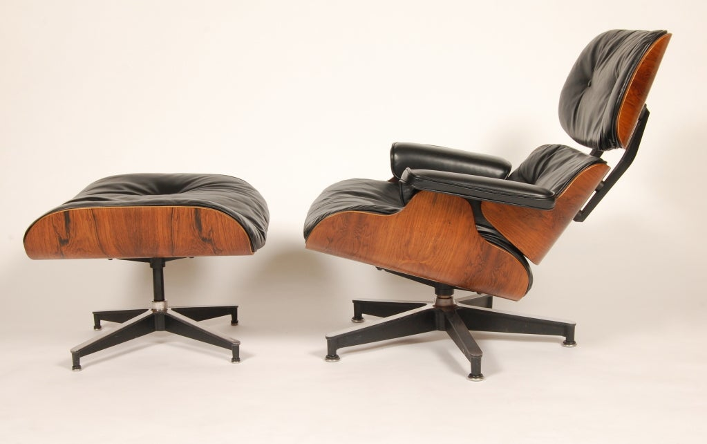 1960s Rosewood  Eames Lounge and Ottoman image 4
