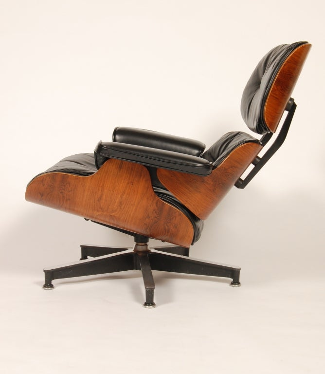 1960s Rosewood  Eames Lounge and Ottoman image 6