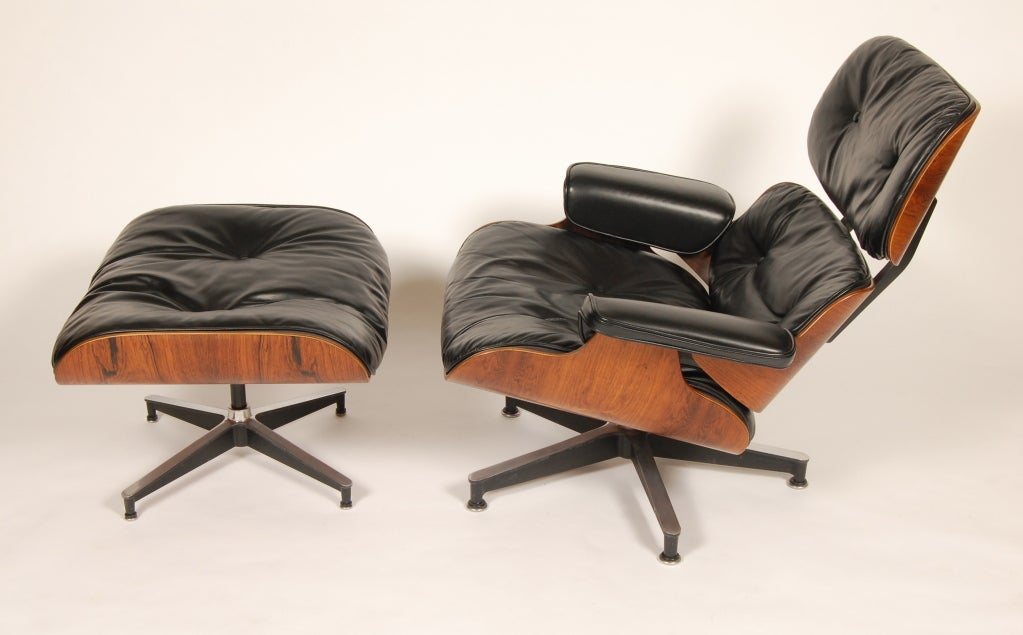 1960s Rosewood  Eames Lounge and Ottoman image 8
