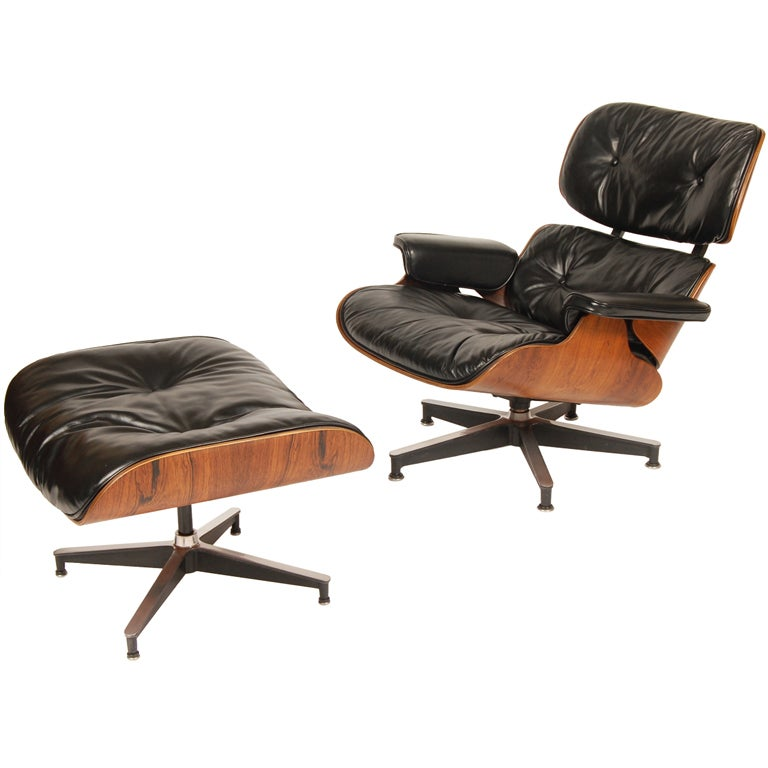 1960s Rosewood  Eames Lounge and Ottoman