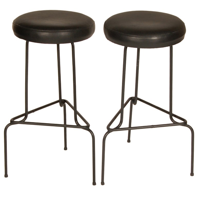 Wrought iron bar stools at stdibs