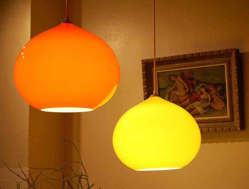 Yellow floor lamp - Yellow Gino Vistosi Onion Pendant Lamp At 1stdibs