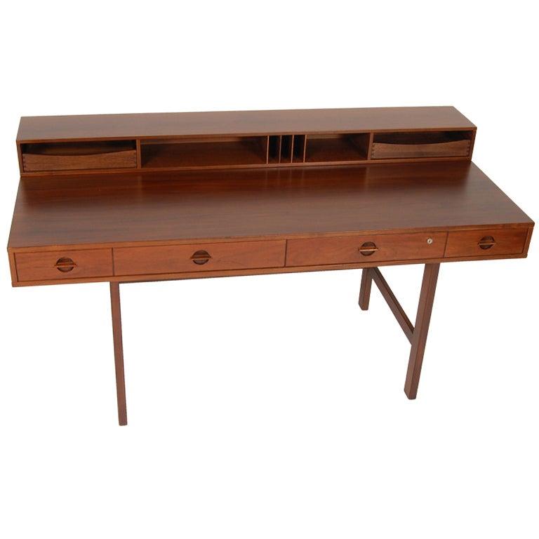Danish lovig flip top desk at 1stdibs for Flip top computer desk