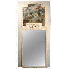 Provincial Louis XVI Trumeau Mirror