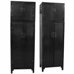 A Stunning Pair of 19th Century Chinese Cabinets