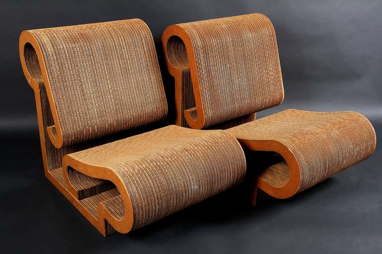 Rare Set Of 4 Contour Lounge Chairs By Frank Gehry For Sale At 1stdibs