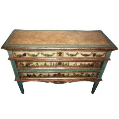 "Early 19th century Italian ""Lacca Povera"" Commode"