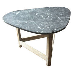 Free Form Modernist Table with Stone Top
