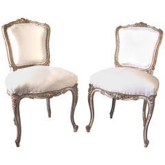 Pair of 19th Century Rococo Side Chairs