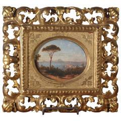 "Italian ""Grand Tour"" Seascape Painting By Domenico Ammirato"